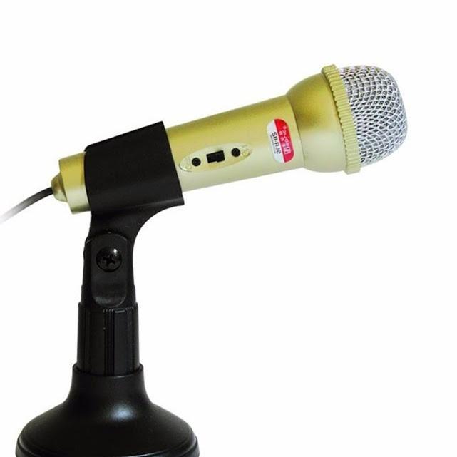 Micro mini cho máy tính & điện thoại Karaoke -Thu âm SOLIC SLR-112