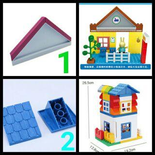 chi tiết mái ngói nóc nhà tương thích lego duplo thumbnail