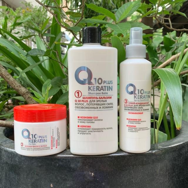 [THANH LÝ] Bộ phục hồi tóc hư tổn và chẻ ngọn Keratin Q10 Exclusivkosmetik