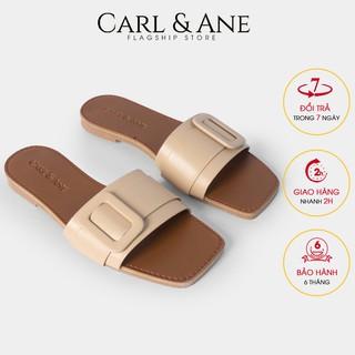 Carl & Ane - Dép nữ thời trang quai ngang đi nh kho a siêu mê m êm chân ma u nude - DC005 thumbnail