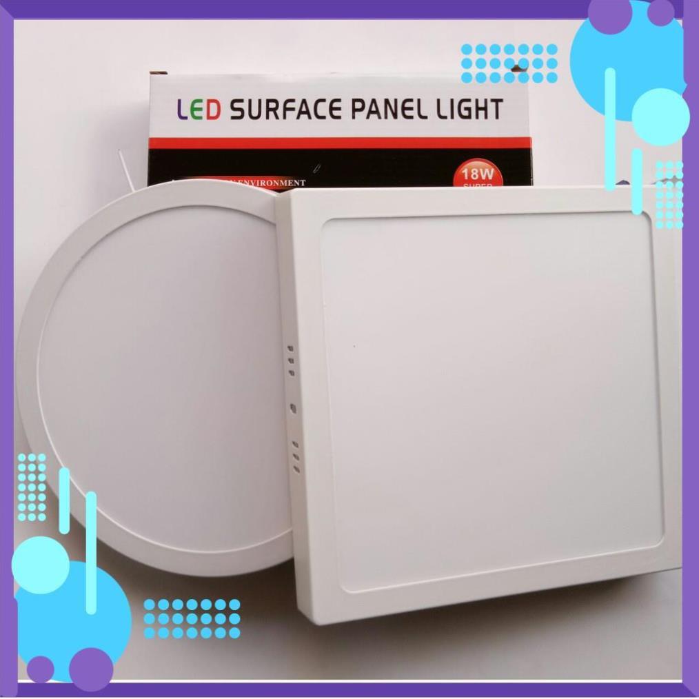Đèn LED Ốp Trần 18w Tròn/Vuông Siêu Sáng - Tiết Kiệm Điện Năng [ Đèn LED Ốp Nổi ]