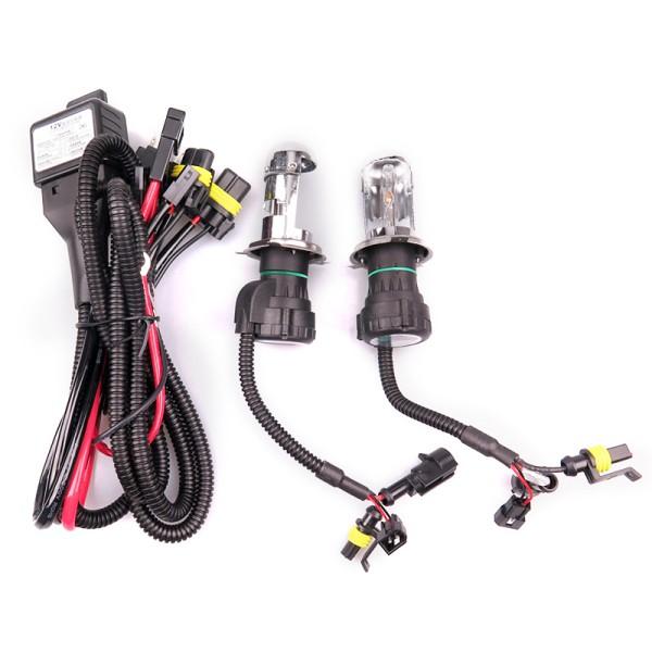 Set 2 bóng đèn pha xenon 55W H4 HID kèm bộ chấn lưu và phụ kiện lắp đặt dành cho ô tô