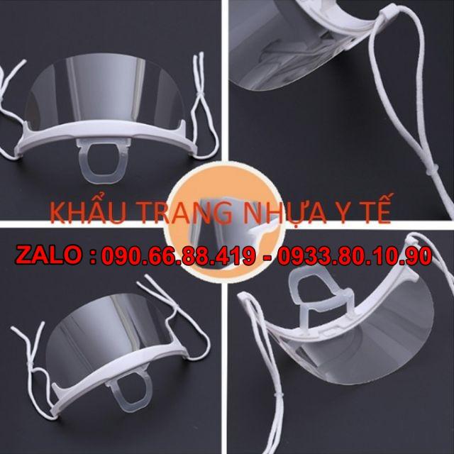 [ 5 cái ] - Khẩu trang nhựa Y tế phun xăm thẩm mỹ, Spa - Khẩu trang y tế nhựa trong suốt - Khẩu trang y tế che miệng