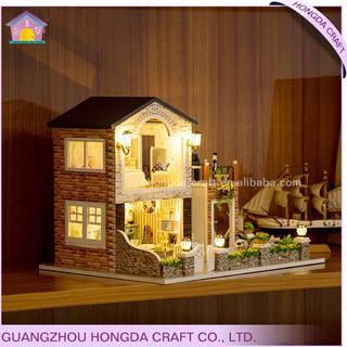 Mô hình nhà gỗ búp bê Romantic country (bộ dụng cụ + mica)