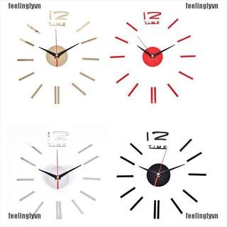 ❤TOP❤ Đồng hồ dán tường dạng 3D độc đáo ❤YO