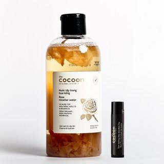 Combo Nước tẩy trang hoa hồng cocoon 300ml + Son dưỡng môi dầu dừa bến tre cocoon 5g thumbnail