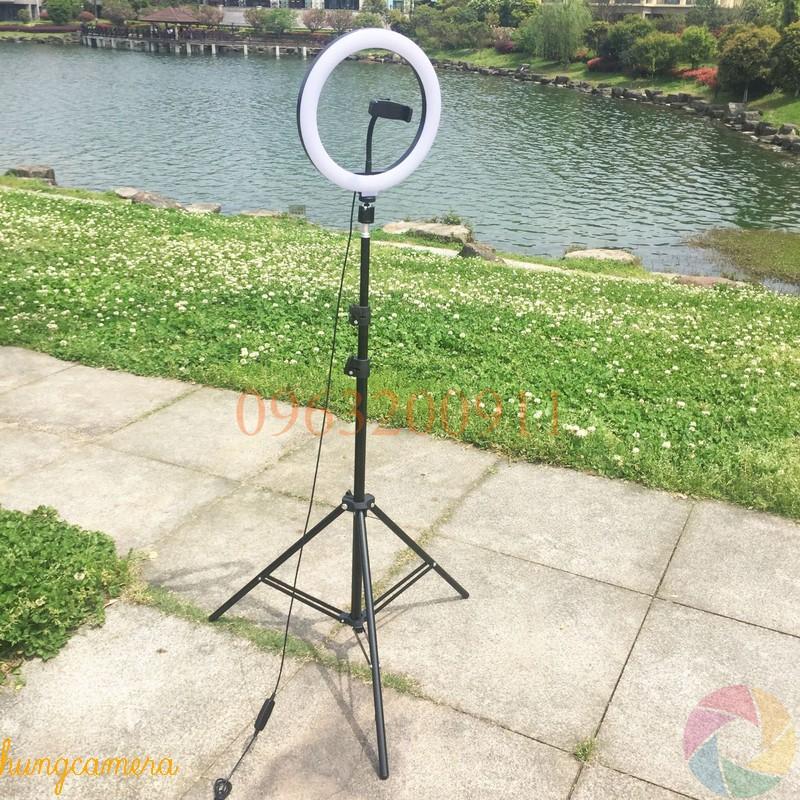 Combo Đèn Livestream 26cm kèm Chân và Đầu kẹp điện thoại