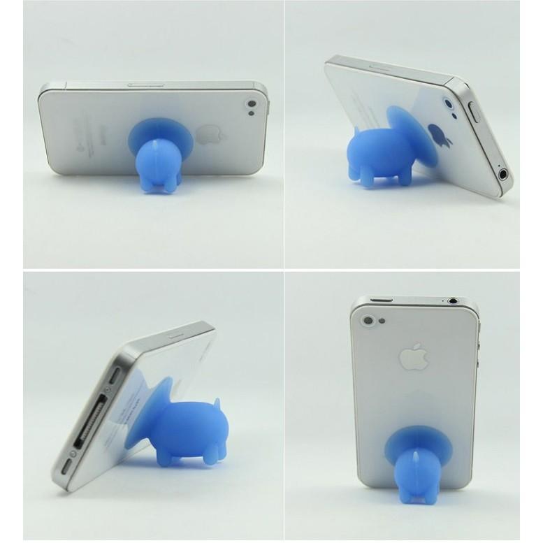 Giá đỡ điện thoại đế hít hình con heo silicon siêu bền - Banana Store