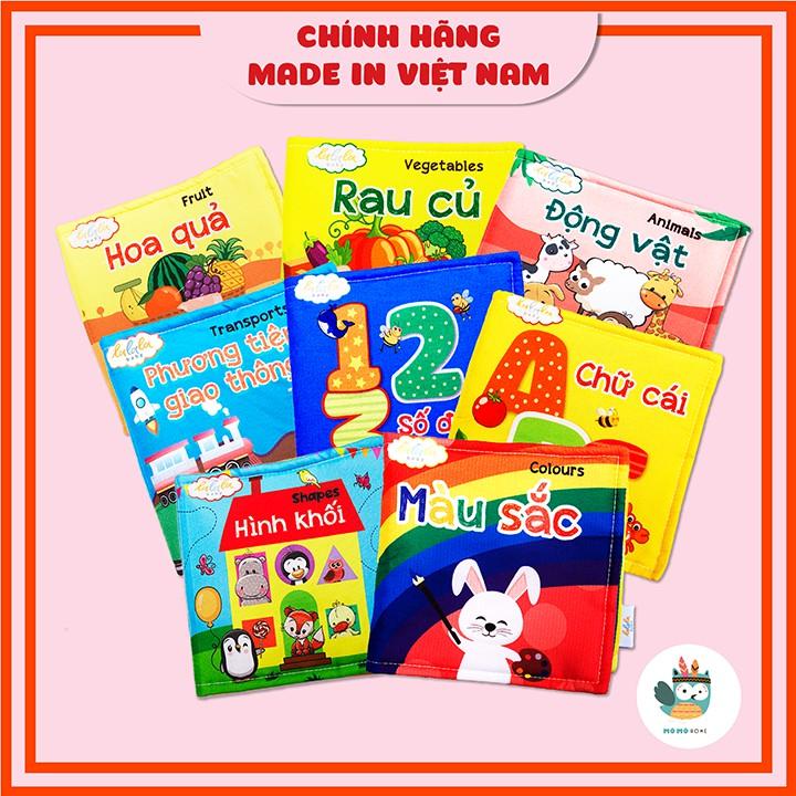 Sách vải Lalala baby, kích thích đa giác quan: My very first book/ Cuốn sách đầu tiên của bé
