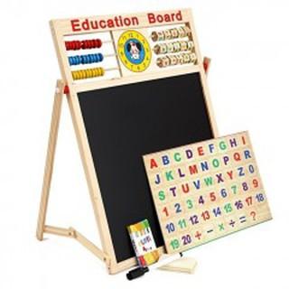 Bảng 2 mặt kèm bộ chữ số bằng gỗ gắn nam châm