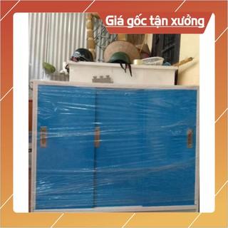 [Chỉ ship HN] Tủ quần áo trẻ em cánh lùa nhựa Đài Loan cho bé, kt125*122cm, freeshipHN