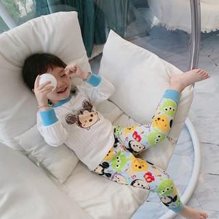 Set Đồ Bộ Dài Tay Họa Tiết Chuột Mickey Dễ Thương Dành Cho Bé 7 Tuổi