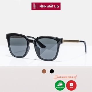 Kính mát nam nữ Lilyeyewear chống UV400, thiết kế mắt vuông dễ đeo, màu sắc thời trang 6035