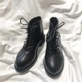 (ẢNH THẬT_Có sẵn) Boots buộc dây gân dọc