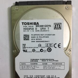 [Mã ELFLASH5 giảm 20K đơn 50K] HDD ổ cứng Laptop cũ bóc máy 320g