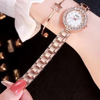 Đồng hồ thời trang nữ DZG đính cườm cao cấp MS0683