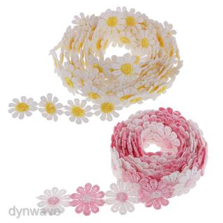 6yd 1″ Embroidered Flower Ribbon Decorating Lace and Trims DIY Sewing Crafts