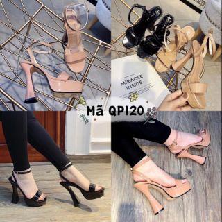 Giày Sandal Nữ 💥XẢ KHO GIẢM 40%💥 Giày Đi Tiệc - Cao Gót 13p Đế Đúp Kép QP120