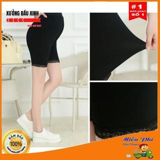 Quần đùi bầu ren mặc trong váy M001 chất Cotton siêu mềm mịn freesize từ 40 đến 85kg thumbnail