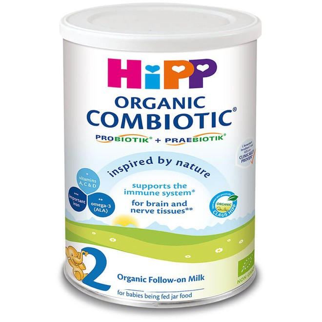 Sữa bột siêu sạch HiPP 2 Combiotic Organic 800g