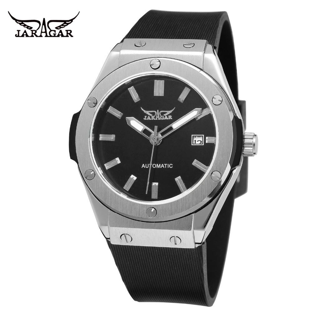 Đồng hồ nam cơ Automatic JARAGAR dây cao su Classic 42mm - JARR1 MD
