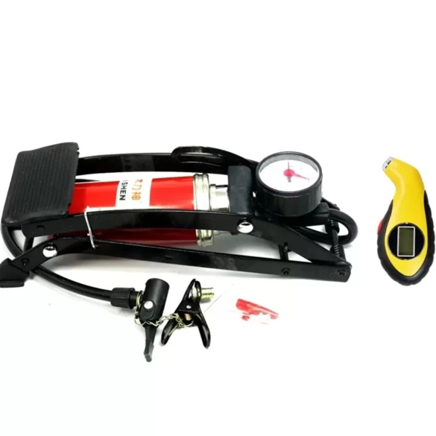Bộ 1 bơm hơi đạp chân đơn thiết kế mới và 1 đồng hồ đo áp suất lốp xe điện tử - 3224582 , 342489269 , 322_342489269 , 390000 , Bo-1-bom-hoi-dap-chan-don-thiet-ke-moi-va-1-dong-ho-do-ap-suat-lop-xe-dien-tu-322_342489269 , shopee.vn , Bộ 1 bơm hơi đạp chân đơn thiết kế mới và 1 đồng hồ đo áp suất lốp xe điện tử