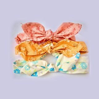 Băng đô vải thô hoa Lamm cho bé gái - hoạ tiết ngẫu nhiên