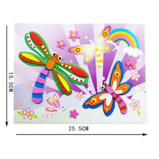 Tranh dán xốp EVA A3 nhiều màu sắc dễ thương cho bé