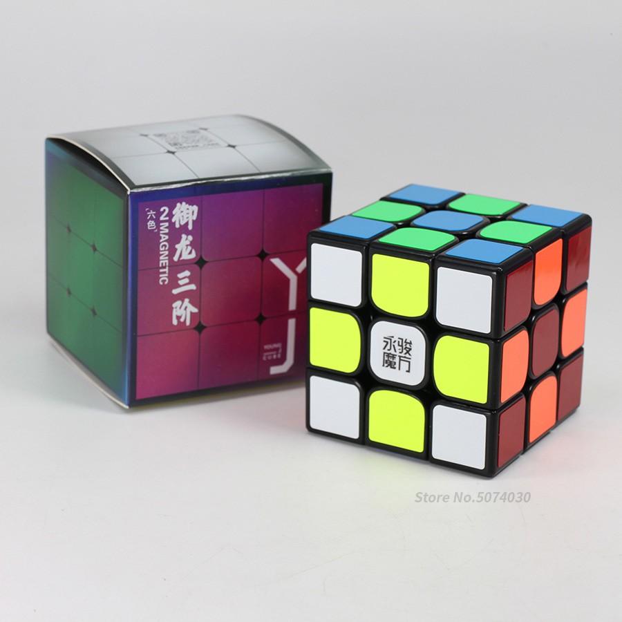 Rubik YJ Yulong v2 M Nam Châm Từ Tính - Rubik Cao Cấp ( Quay Nhanh, Mượt, Bẻ Góc Cực Tốt) - Tặng dầu bôi trơn Rubik
