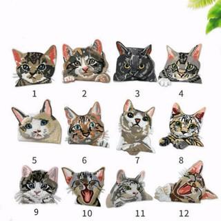 Sticker Ủi Thêu Hình Mèo