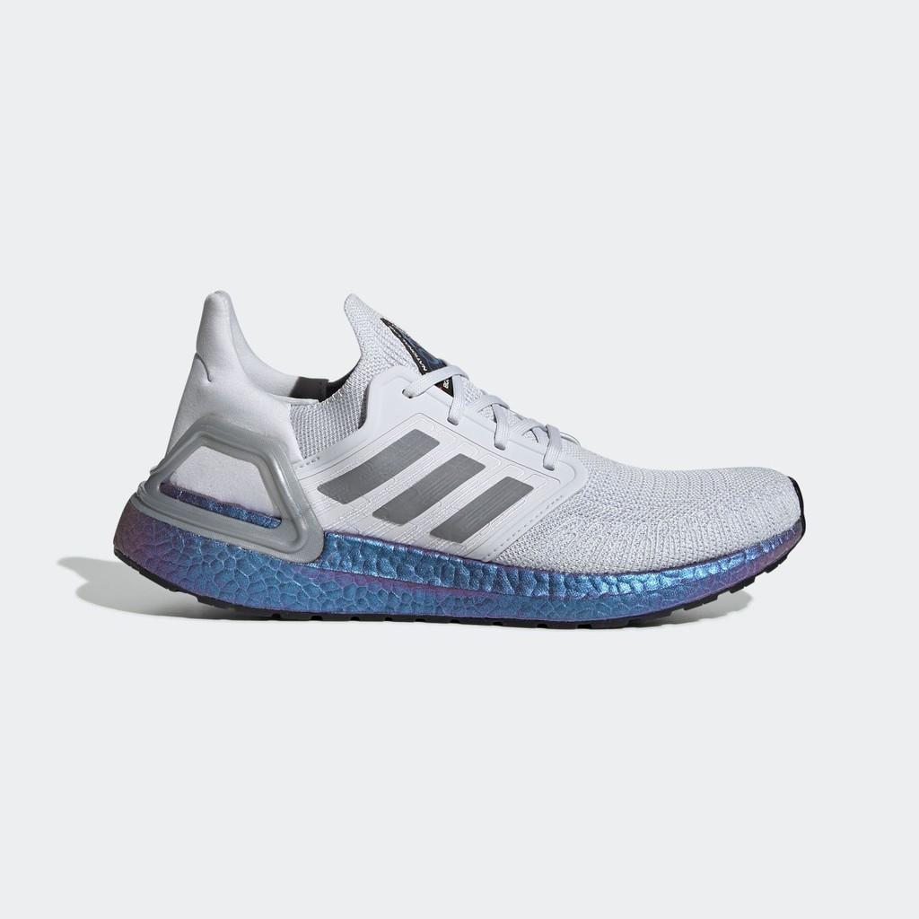 (100% Adidas chính hãng) Giày Adidas Ultraboost 20 ISS US National Lab (Xám khói, Boost xanh tím)