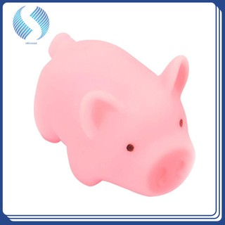 Amazingdeal Pink Cartoon Pig Toy Cute Piggy Sounding Silicone Girl Toy for Pressure Relieving Home