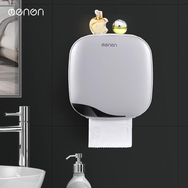 Hộp đựng giấy vệ sinh Cao Cấp 2 Ngăn Đa Năng Hiệu OENON