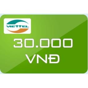 Thẻ Viettel mệnh giá 30.000 - 3066488 , 449850920 , 322_449850920 , 30000 , The-Viettel-menh-gia-30.000-322_449850920 , shopee.vn , Thẻ Viettel mệnh giá 30.000