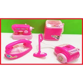 Đồ chơi 4 món dọn dẹp nhà cửa dùng pin có đèn nhạc (kèm pin)