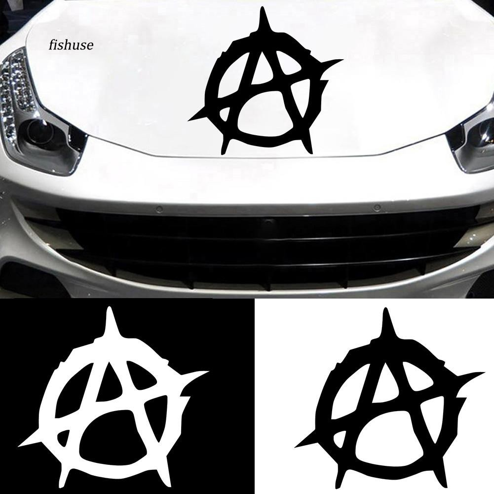 FHUE_Unique Anarchy Style Car Body Window Sticker Reflective Decal Decor Accessories
