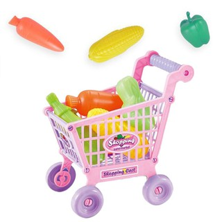 SoYoung Shopping Cart Food Supermarket Vegetables Fruits Toy
