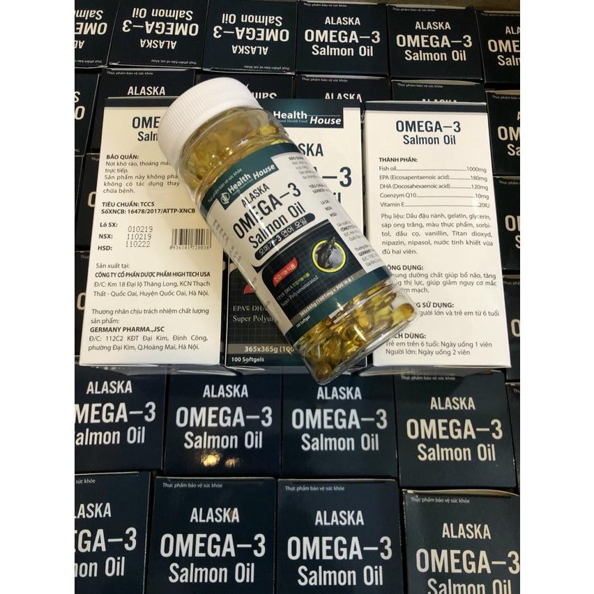 Dầu cá hồi Omega 3 Salmon oil Lọ 100 viên
