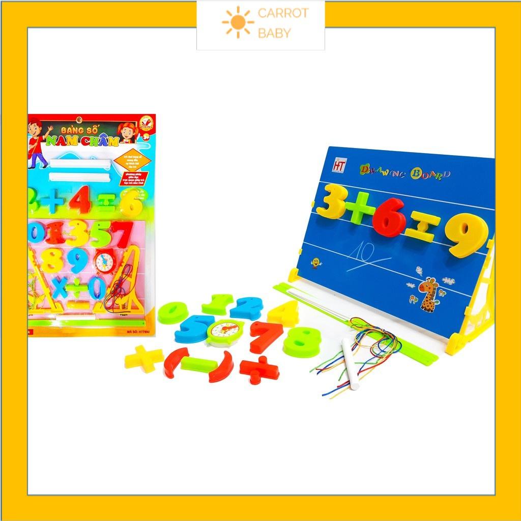 Đồ chơi toán học trẻ em bảng cho bé học chữ cái và số nam châm hít nhựa an toàn Việt Nam phát triển sáng tạo