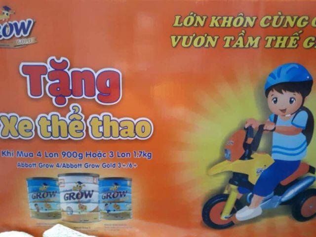 Xe đạp 3 bánh kiểu moto hkm sữa Grow