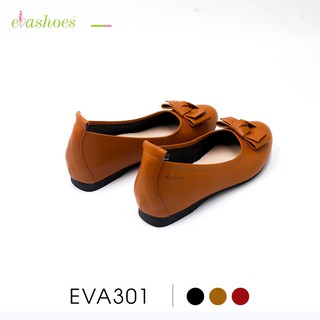 Giày Búp Bê Độn Đế 3cm Mũi Tròn Phối Nơ Da PU Evashoes - Eva301 thumbnail