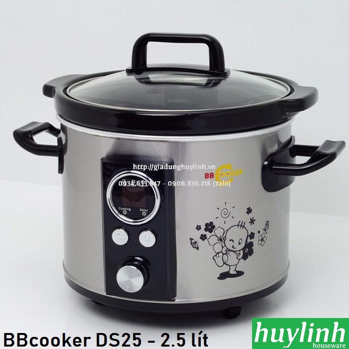 Nồi nấu cháo chậm tự động BBcooker DS25 - 2.5 lít - Thương hiệu Hàn Quốc