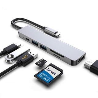 Hub /chia cổng USB C sang USB 3.0 6 trong 1 dành cho MacBook Pro