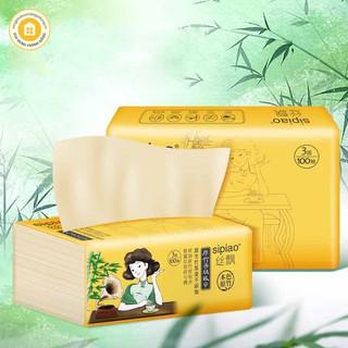 [HOT 2021 - SIÊU RẺ] Thùng 30 gói giấy ăn gấu trúc SIPIAO siêu dai, mẫu mã mới, 1 bịch 300 tờ, giấy ăn nội địa Trung