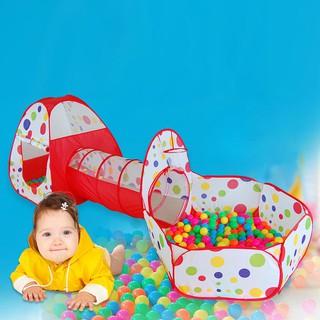 Bộ 3 ống lều nhà banh thú vị cho trẻ em khám phá