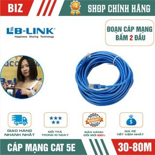 [Mã ELFLASH5 giảm 20K đơn 50K] Đoạn dây cáp mạng Cat5 bấm 2 đầu LB-LINK 30/40/60/80m (Xanh/cam) - Chính hãng