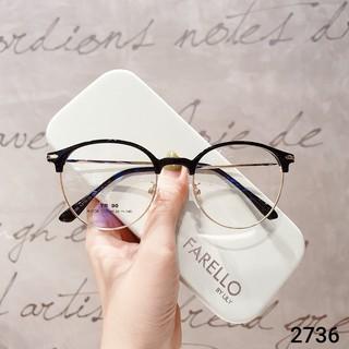 Hình ảnh Gọng kính cận tròn kim loại thời trang nữ Lilyeyewear 2736-3