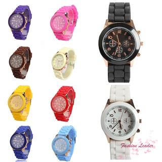 Đồng hồ đeo tay dây Silicon màu trơn ngọt ngào và thời trang cho bé trai / bé gái
