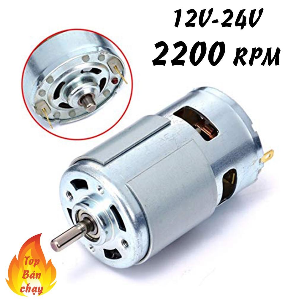 motor 775 12v tốc độ 2200 vòng - motor siêu bền cho dân diy chuyên nghiệp