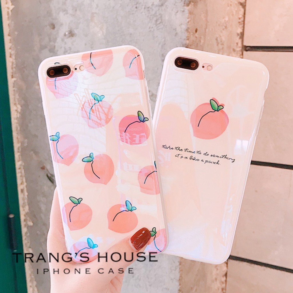 Ốp Lưng Iphone Silicon Dẻo Peach Sweet